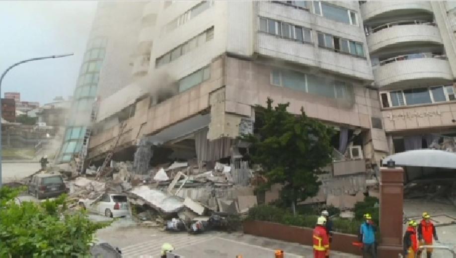Число жертв в итоге землетрясения наТайване выросло до 10-ти