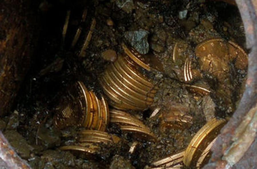 ВКитайской народной республике  обнаружили средневековый клад сденьгами