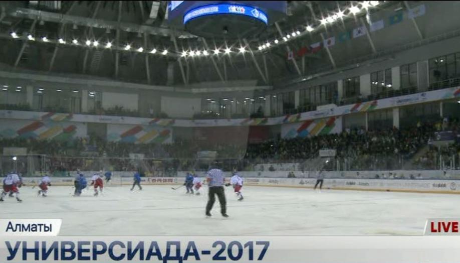 Студенческая сборная РФ похоккею разгромила команду Японии вматче Универсиады
