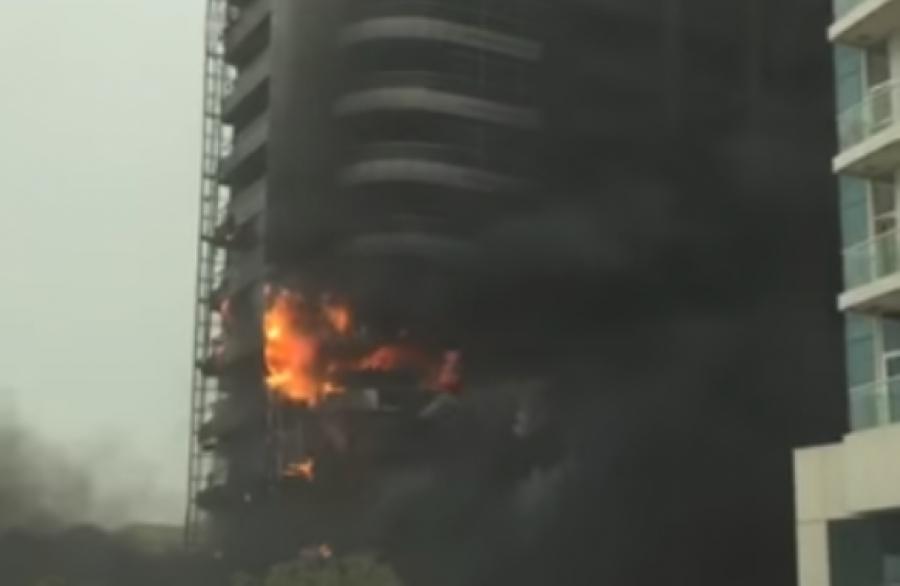 ВДубае горел небоскреб Zen Tower— свидетели