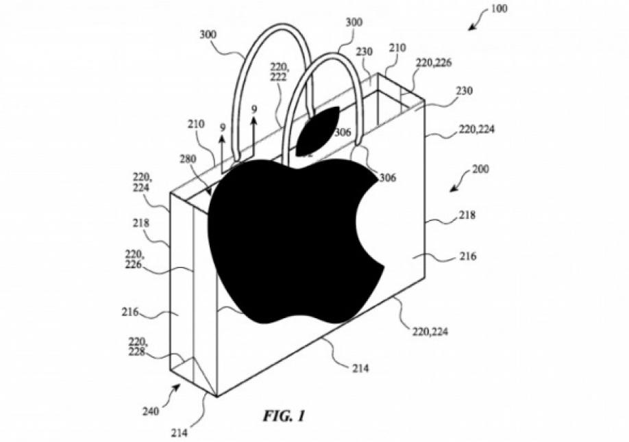 Apple запатентовала бумажный пакет с ручками