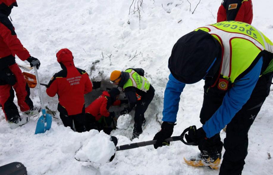 ВИталии число жертв из-за схода лавины возросло до 9-ти человек