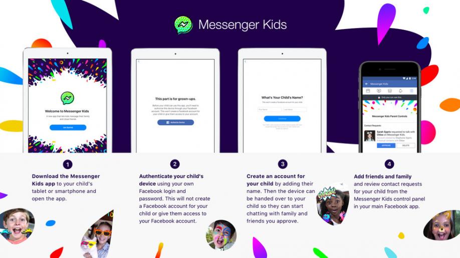 Facebook выпустила мессенджер для детей