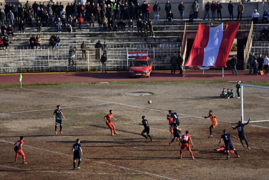 Сирийские футболисты впервый раз за 5 лет провели матч вАлеппо