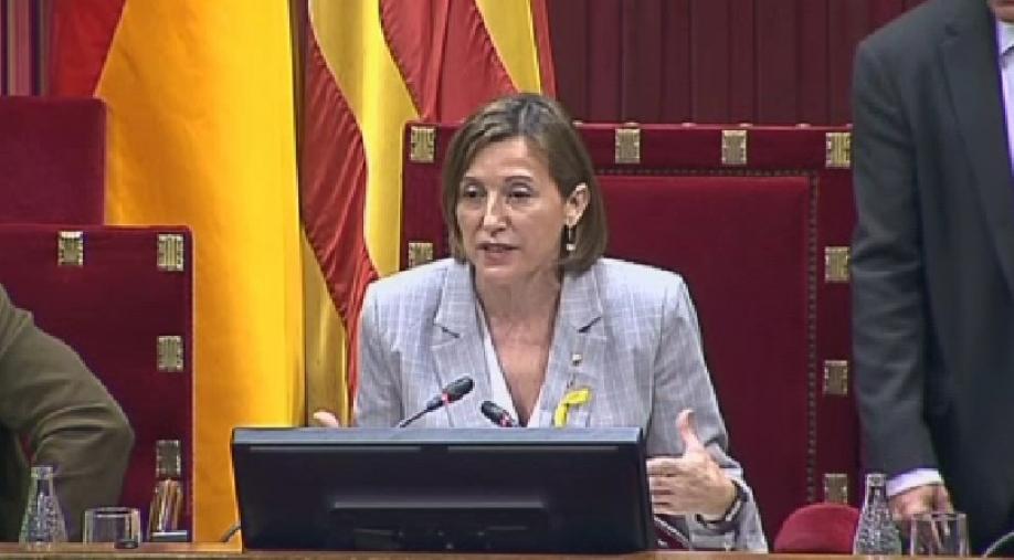 Впарламент Каталонии поступила резолюция опровозглашении независимости