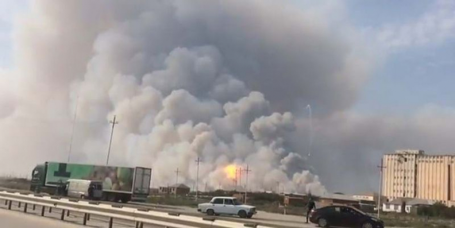 ВАзербайджане произошел взрыв наоружейном складе